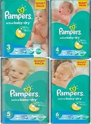 Pampers оригинал,  крупный опт от 8000 упаковок,  памперсы,  подгузники