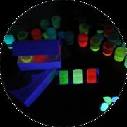 Краски светящиеся в темноте для детского творчества